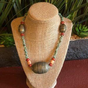 Vintage turquois Yemeni Pendant Necklace Bedouin